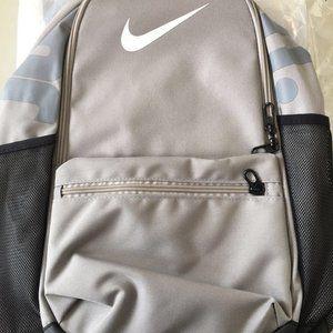 nike grey backpack schoolbag